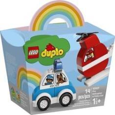 Imagem de 10957 Lego Duplo - Helicóptero Dos Bombeiros e Carro da Polícia