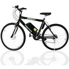 Bicicleta Elétrica TecBike 18 Marchas Aro 26 Suspensão Dianteira Freio V-Brake Tec City 350w