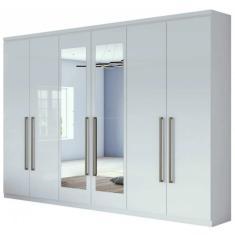 Imagem de Guarda-Roupa Casal com Espelho 6 Portas 4 Gavetas Alonzo New Lopas