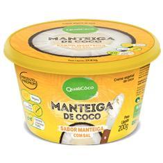 Imagem de Manteiga de Coco Sabor Manteiga com Sal QualiCoco 200g