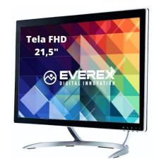 "Imagem de All in One Everex OnePower Intel Core i3 5005U 2,00 GHz 8 GB SSD 120 GB 21,5"" Linux OT1 EVRAI3B812L-21"
