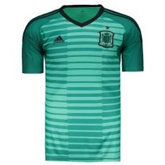 Camisa Espanha 2018 19 sem Número Goleiro Masculino Adidas e212d17f54264