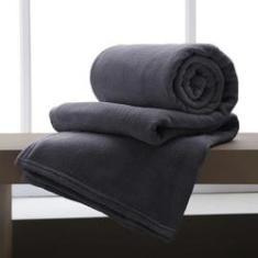 Imagem de Cobertor / Manta De Microfibra Queen 210 G/M² Andreza Chumbo