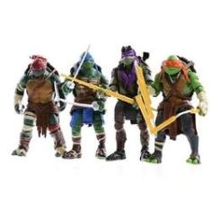 Imagem de Kit 4 Bonecos Articulados Tartarugas Ninja Promoção
