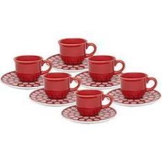 Imagem de Conjunto com 6 Xícaras de Café 75ml com Píres Renda - Oxford Daily