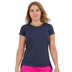 Imagem de Camiseta Feminina Fitness  Marinho Lean
