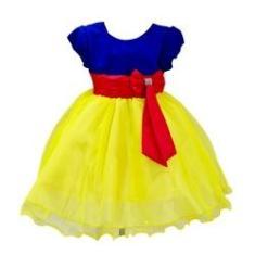 Imagem de Vestido Infantil  De Neve Princesa Festa Luxo Brilho
