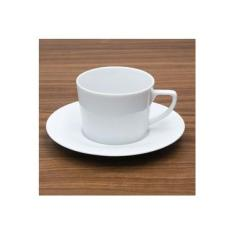 Imagem de Xícara de Chá com Pires Aspen 200mL Branca - Schmidt