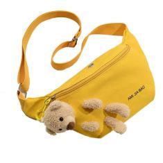 Imagem de Bonito Saco pequeno urso Feminino Peito Bag Harajuku Student Messen