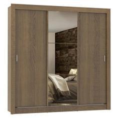 Guarda-Roupa Casal 3 Portas 4 Gavetas com Espelho Lyon Plus Madesa
