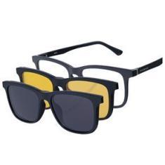 Imagem de Armaçao Oculos Solar Polarizado Masculino Kallblack AM3017