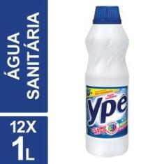 Imagem de Água Sanitária Tradicional Ypê 1l Garrafa Kit 12un