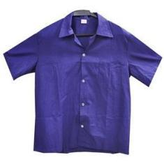Imagem de Camisa de brim uniforme manga curta - MultiMarcas