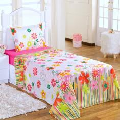 Imagem de Lençol Infantil de Menina Jogo de Cama Solteiro 3 peças Pink