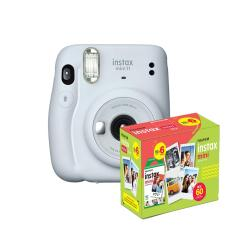 kit Câmera Instantânea Fujifilm Instax Mini 11 Branca + Filme com 60 Fotos