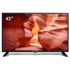 """TV LED 43"""" Multilaser Full HD TL018 2 HDMI USB"""