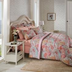 Imagem de Jogo De Cama King Size Isadora 4 Peças 100% Algodão - Casa & Conforto