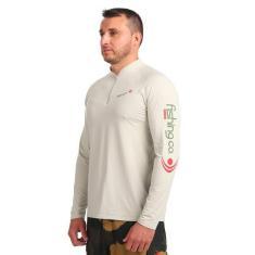 Imagem de Camiseta Fishing Co Ziper Bege