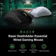 Imagem de Mouse gamer Razer DeathAdder Essential com fio, sensor ótico de 6400DPI, 5 botões programáveis