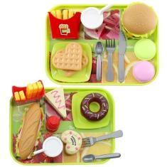 Imagem de Kit De Brinquedo Infantil Lanchonete Fast Food 21 Peças