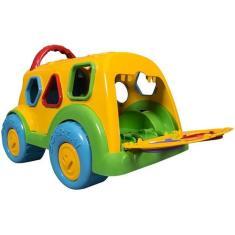 Imagem de Caminhão Brinquedo Dino Escolar -Cardoso Toys c/ Acessórios