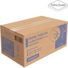 Imagem de Papel Toalha  Interfolhado 2 Dobras Folha Dupla Extra Luxo Caixa c/ 2000 folhas