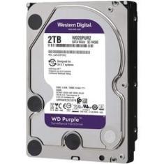 Imagem de HD Interno PC Desktop 2TB WD Western Digital Purple Sata III WD20PURZ