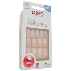 Imagem de Unhas Postiças Kiss Salon Naturals Medio Quadrado - 28 Unidades