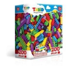 Imagem de Blocos De Montar Encaixar Coloridos Tand 200 Peças Toyster