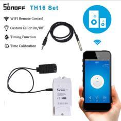 Imagem de Sonoff-kit de automação com interruptor inteligente th16, monitoramento de temperatura e umidade,