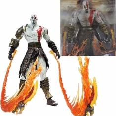 Imagem de Boneco God Of War Kratos Flaming Blades Of Athenas Neca