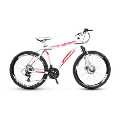 Bicicleta Mountain Bike Alfameq 21 Marchas Aro 26 Suspensão Dianteira Freio a Disco Mecânico Stroll