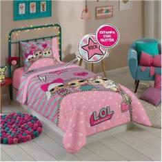 Imagem de Edredom Dupla Face 100% Poliéster Barbie Reinos Mágicos Com 1 Peça
