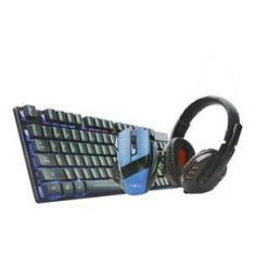 Imagem de Kit Gamer Teclado Com Teclas Para Jogos Mouse Fone Inova Led