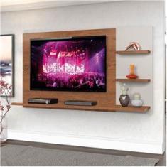 """Imagem de Painel New Clean  160cm P/TV até 49"""" Natural/Off White - Zanzini"""