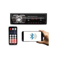 Imagem de Auto Radio Som Automotivo Mp3 Com Controle Bluetooth Usb Sd Fm Bsc Bcn