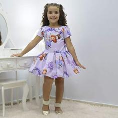 Imagem de Vestido infantil tema Princesa Sofia