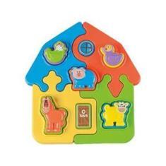 Imagem de Brinquedo de Encaixar Puzzle Mania Fazenda - Ta Te Ti 9 Peças