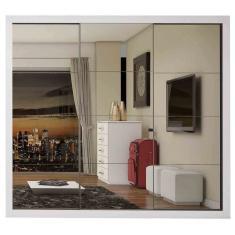 Imagem de Guarda-Roupa Casal 3 Portas 4 Gavetas com Espelho Bahia 3E Estrela Móveis