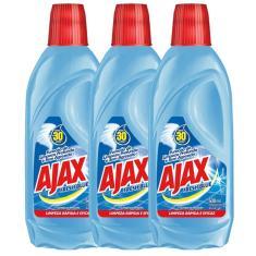 Kit com 3 Limpador Diluível Ajax Fresh Blue 500ml Cada
