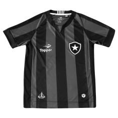 Camisa infantil Botafogo II 2016 sem Número Torcedor Infantil Topper 58cc931dde502