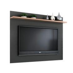 Imagem de Painel para TV até 50 Polegadas Friso Grafite e Siena 160 cm