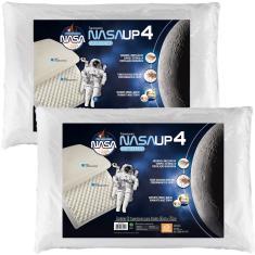 Imagem de Travesseiro Nasa Up4 Alto 14cm Altura - Kit Com 2 Peças - Fibrasca