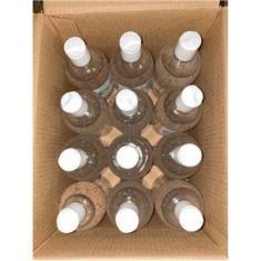 Caixa com 12 unidades de Álcool Gel 70% Antisséptico Hidratante Aloe Vera Para Mãos 500 ml - Yantra