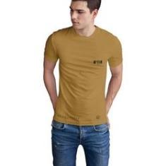 Imagem de Camiseta Mayon Algodão Egípcio Bege Logo M.Y.N