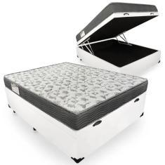 Cama Box Baú Casal Ortobom - ISO 100 138cm Ortobom