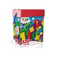 Imagem de Blocos De Montar Com 120 Peças Bau Tand Toyster