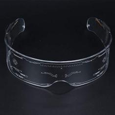 Imagem de JUNKAI Óculos de sol luminosos com LED, óculos de sol inteligentes, modernos, criativos, divertidos, fáceis de usar, convenientes, portáteis, artigos de festa, bar, Natal, Ano Novo