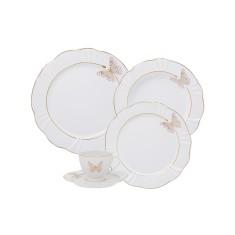 Aparelho de Jantar Redondo de Porcelana 30 peças - Soleil Encantada Oxford Porcelanas