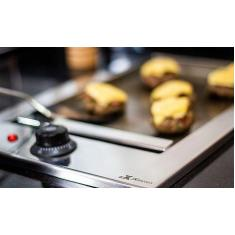 Chapa Lanche Gourmet Jx Metais Embutir Elétrica 40 X 50